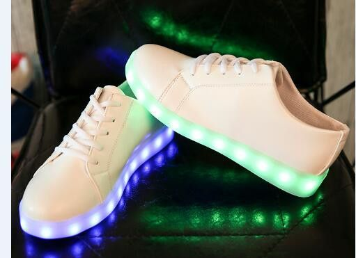 Led Licht Schoenen : New led light shoes women casual breathable luminous tenis