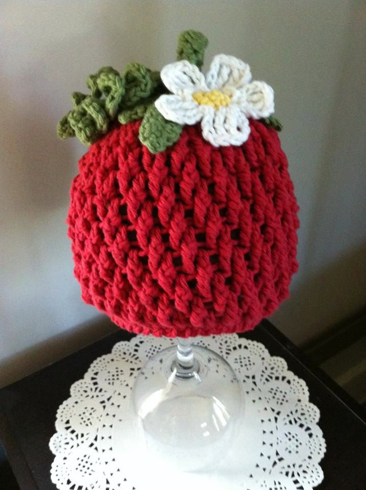 Crochet Pattern for Berrylicious Strawberry Beanie Hat - 6 sizes ...