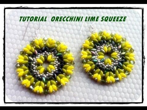 """Videotutorial: DIY Tutorial Orecchini fluo """" Lime Squeeze"""" superduo feat"""