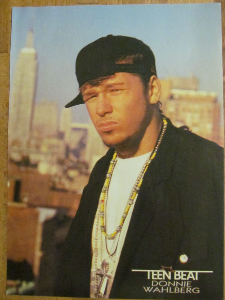 New Kids on the Block, NKOTB, Donnie Wahlberg, Tommy Page, Full Page Pinup