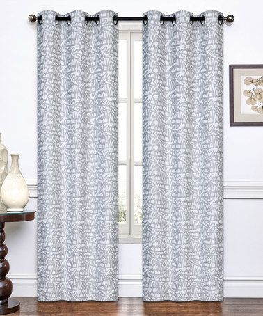 Look what I found on #zulily! Light Gray Annette Jacquard Curtain Panel - Set of Two #zulilyfinds