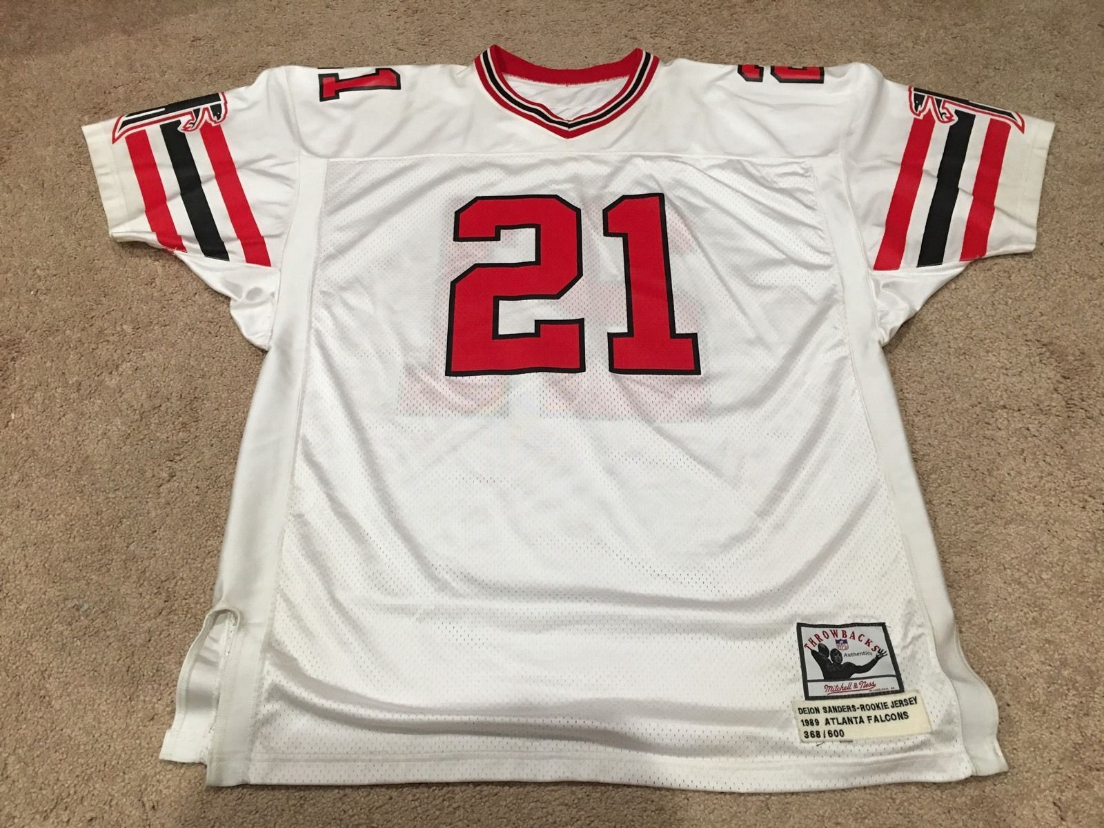 the best attitude 991a2 b1618 Authentic Mitchell Ness Deion Sanders Atlanta Falcons 1989 ...