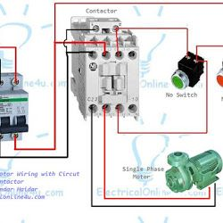 e9a4153cd92cb5ea3c17bb6f5b474e63 single phase motor wiring with contactor hminga pinterest single phase motor contactor wiring diagram at n-0.co