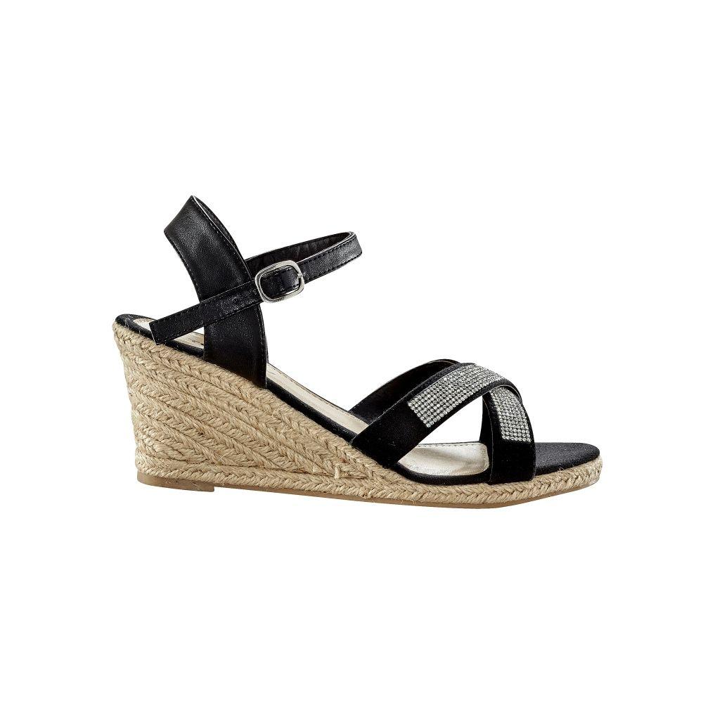 chaussure acheter nouveau où acheter Sandales compensées avec strass. Nouvelle Collection Chaussures ...