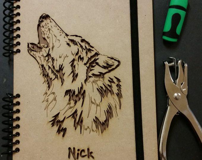 Madeheart Cuaderno De Dibujo Libreta Para Dibujar Hecho: Cuaderno Del Lobo, Le Journal, Lobos, Sketchbook, Escribir