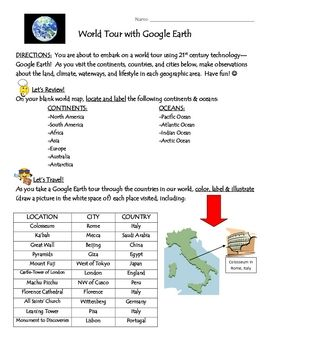 Engage your students in world geography by taking a world tour on engage your students in world geography by taking a world tour on google earth and visiting gumiabroncs Choice Image
