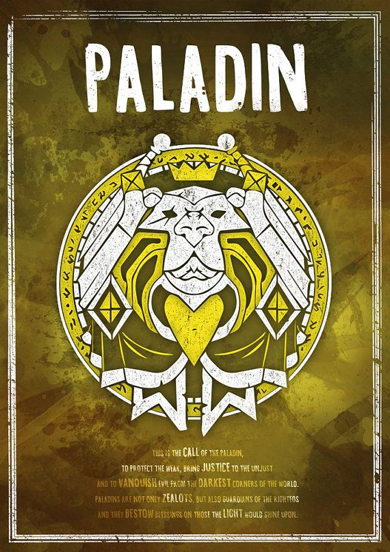 ea2229428913 World of Warcraft: Paladin Class Symbol print/poster by SodaArcade ...
