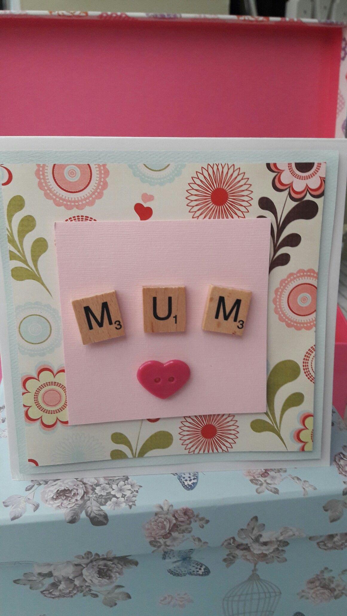 Scrabble mum birthday/mother's day card
