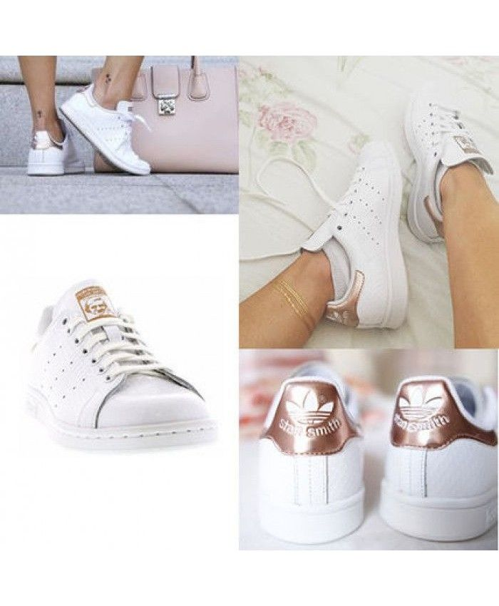 Womens Adidas Stan Smith Rose Gold White Trainer   adidas rose gold ... 2fc1c3737086