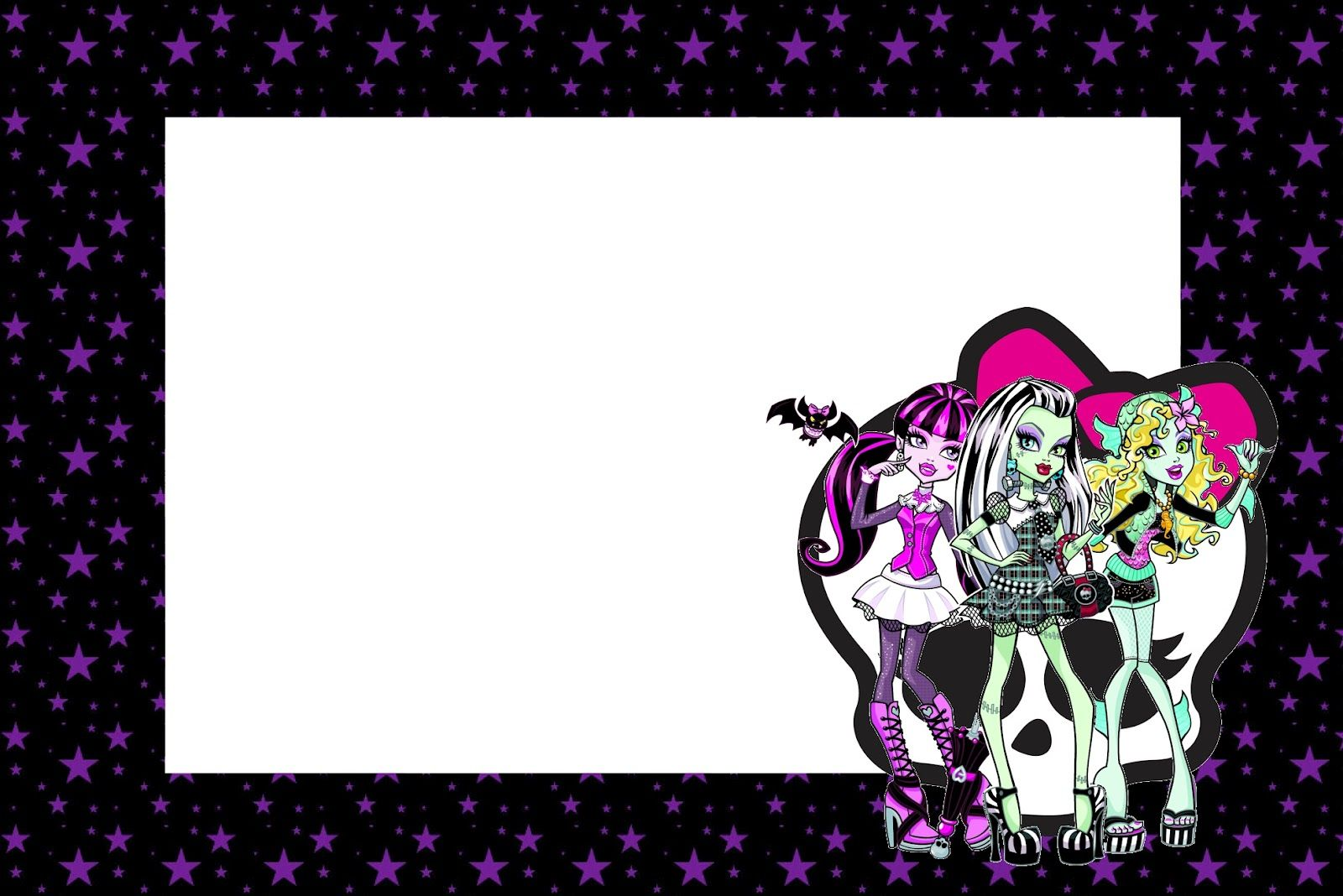 Monster High: Free Printable Party Invitations. | Birthday party ...