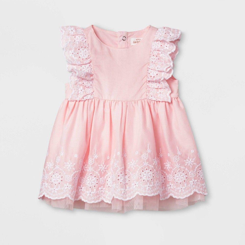 Baby Girls Eyelet Dress Cat Jack Pink 3 6m Girl S Girl Dress Patterns Dresses Cute Baby Dresses [ 1000 x 1000 Pixel ]