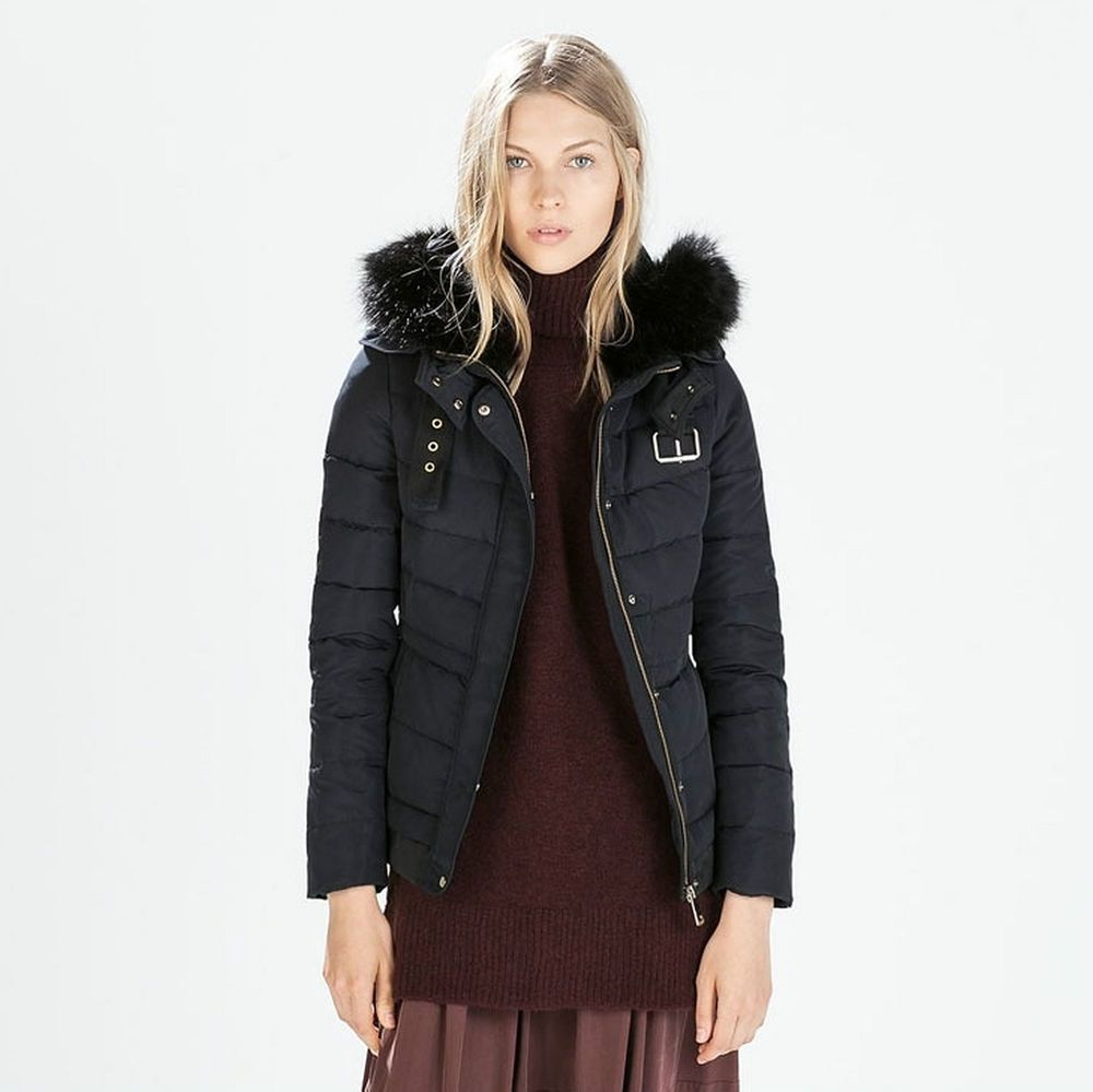 Zara Navy Blue Winter Coat