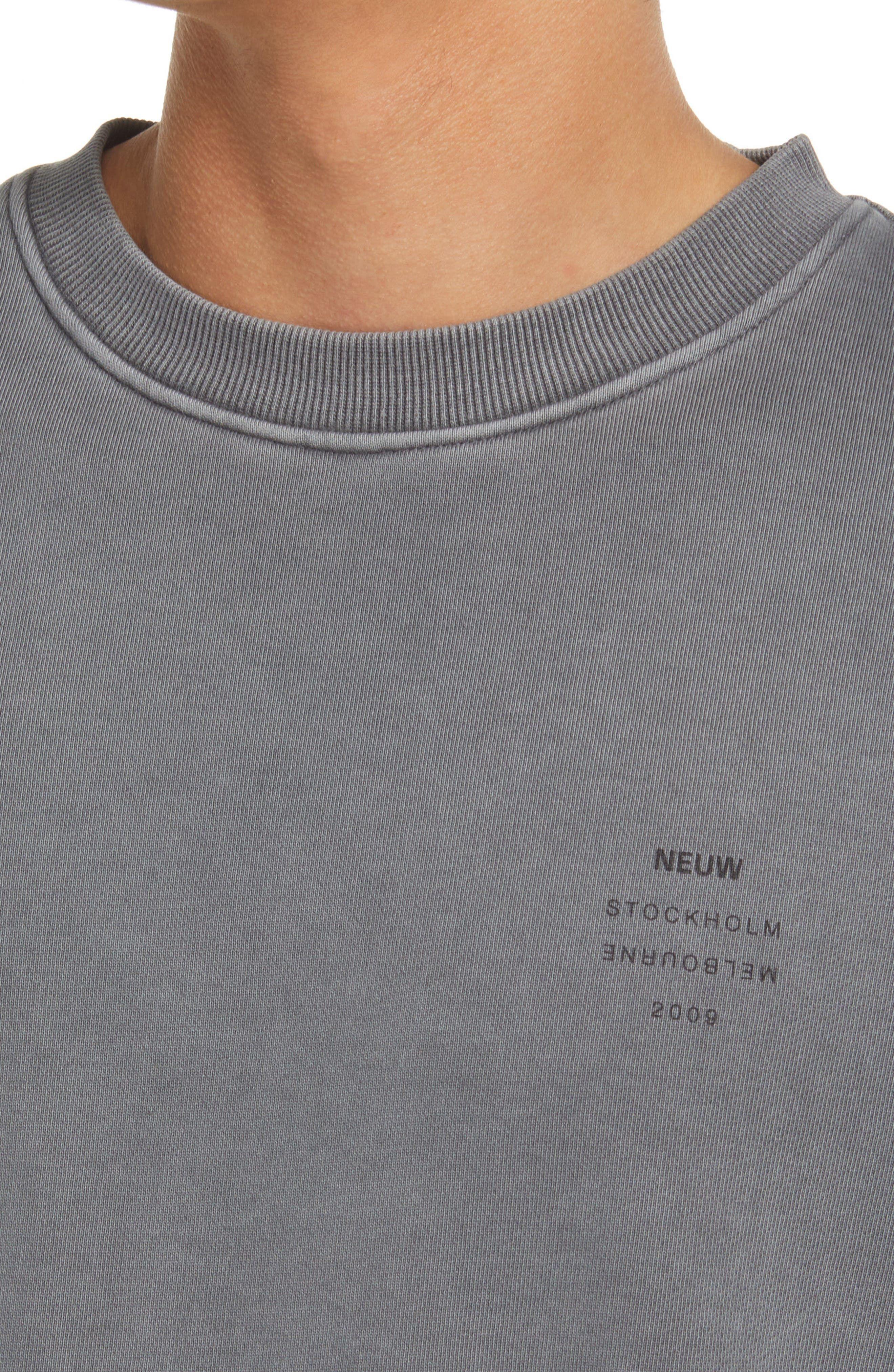 Men's Neuw Denim Logo Sweatshirt, Size Medium - Grey