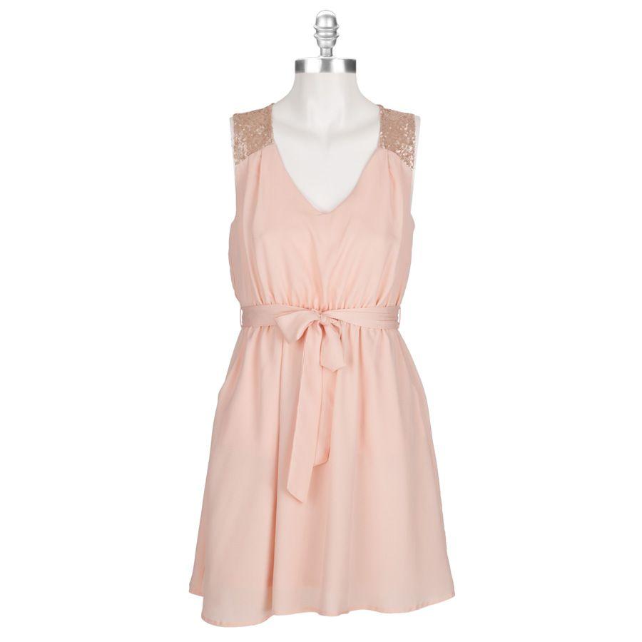 Monteau Juniors Sequin-Yoke Dress with Cutout #VonMaur | Fashion ...