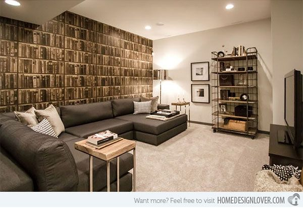Basement Living Room Designs Classy 15 Modern And Contemporary Living Room Basement Designs Design Decoration