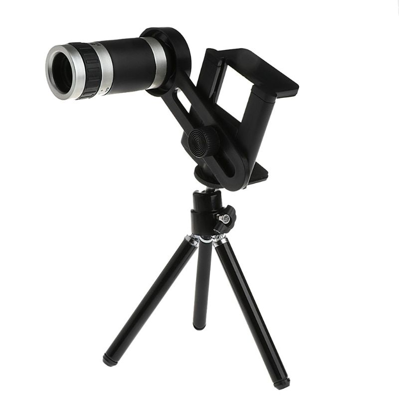 1668d3f8b5c50c Mobile Phone Camera Lens 8X Zoom Telescope Telephoto Lens With Universal  Holder Tripod For iPhone Samsung Xiaomi HTC Smartphone Review