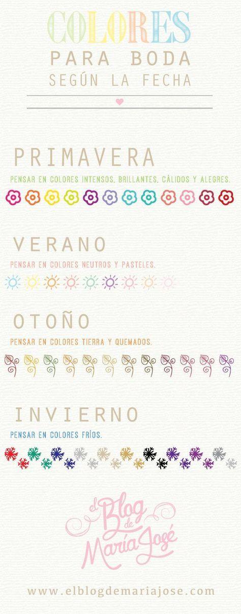 Colores para boda según la fecha