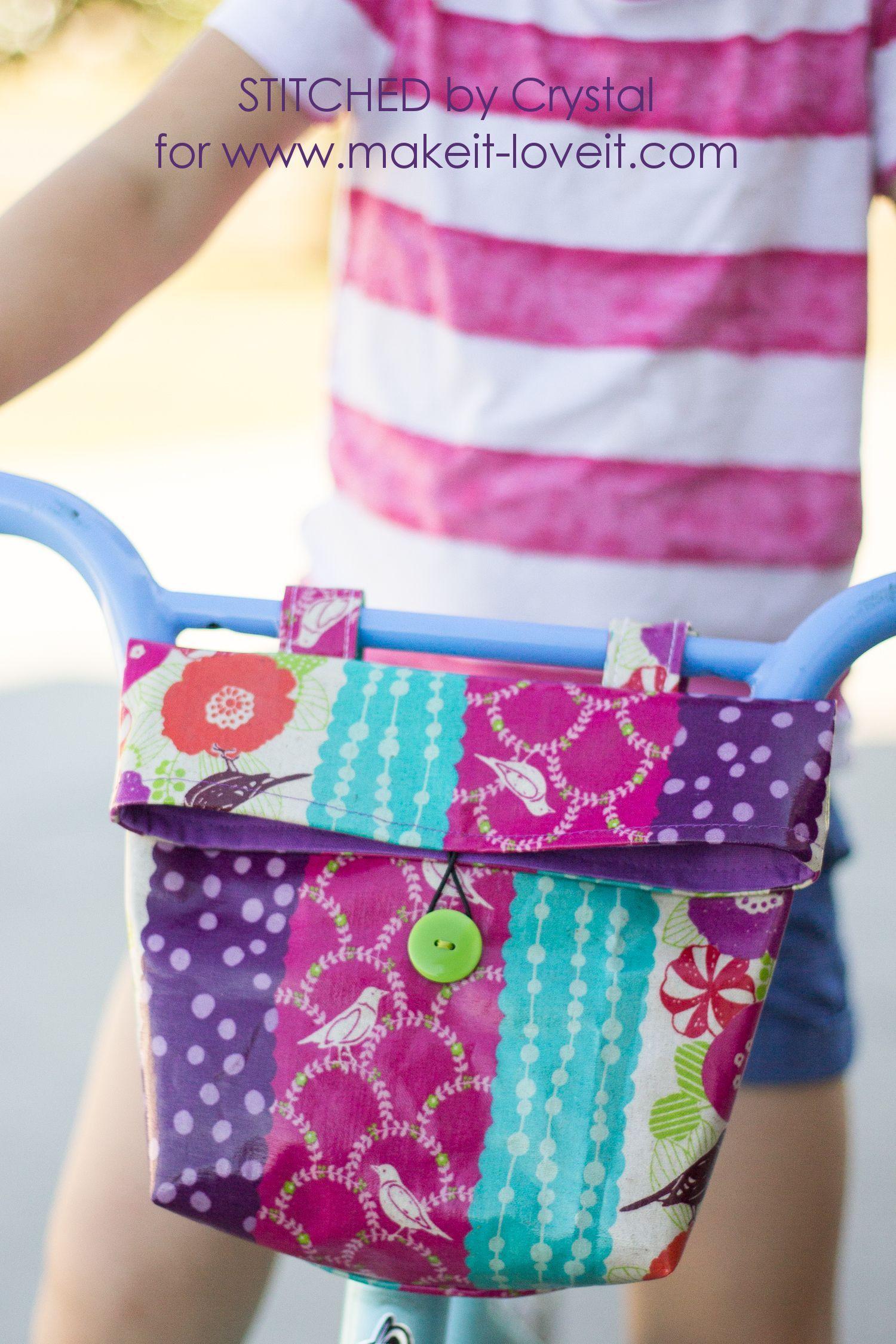 How To Sew The Easiest Baby Blanket Handlebar Bag Sewing Tutorials Easy Sewing