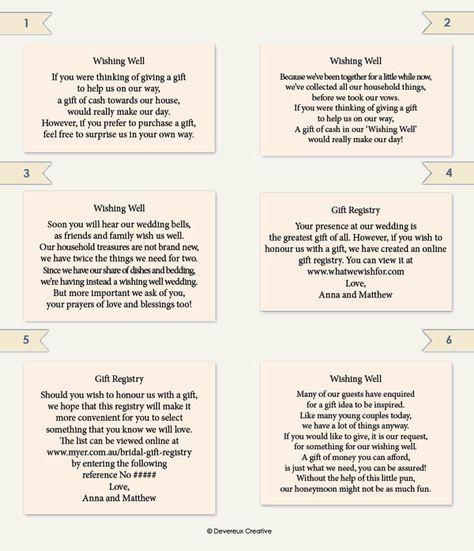 Wedding Invitation Wording For Monetary Gifts: Wedding Information Wording Example
