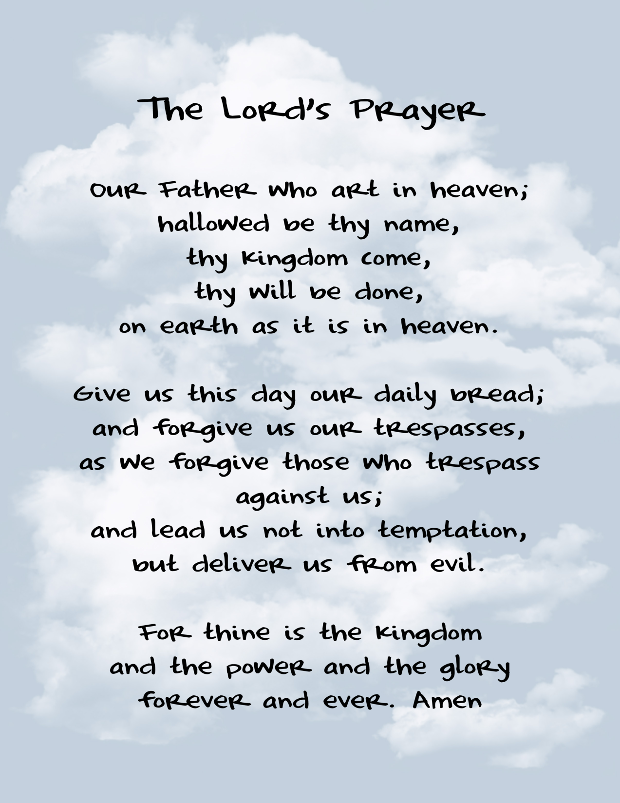 The Lord S Prayer As A Pattern Of Caring For God S Need