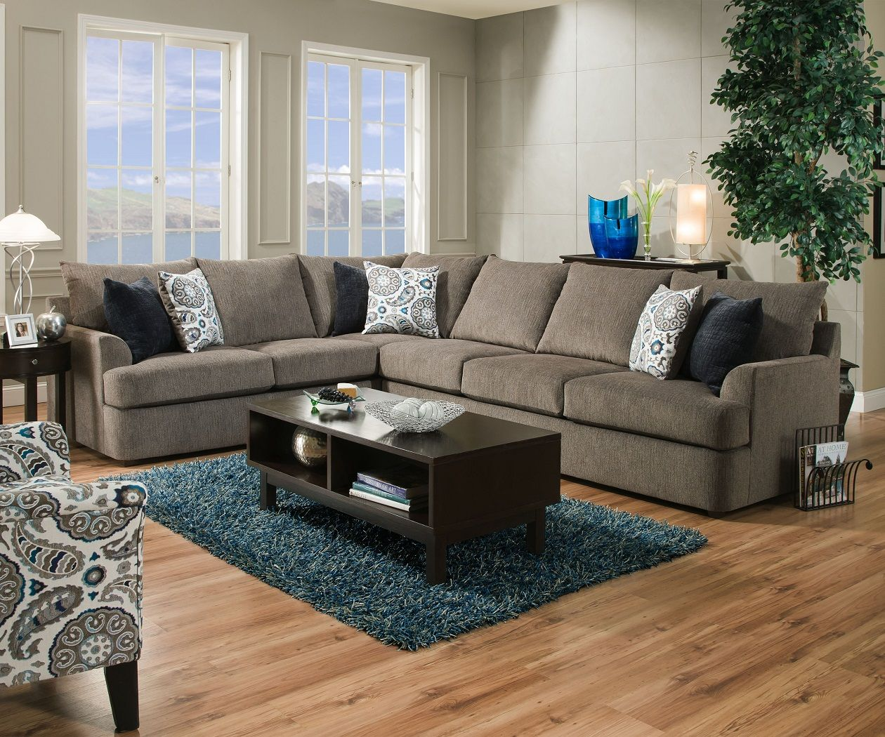 Grandstand 8540 Simmons Beautyrest Sectional Sofa Sectional Sofa Grey Sectional Sofa Furniture