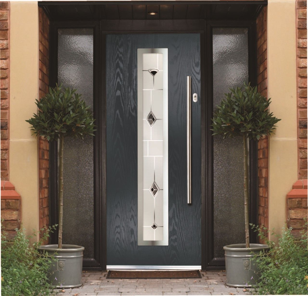new range of Composite front doors now available chrome effects with ...