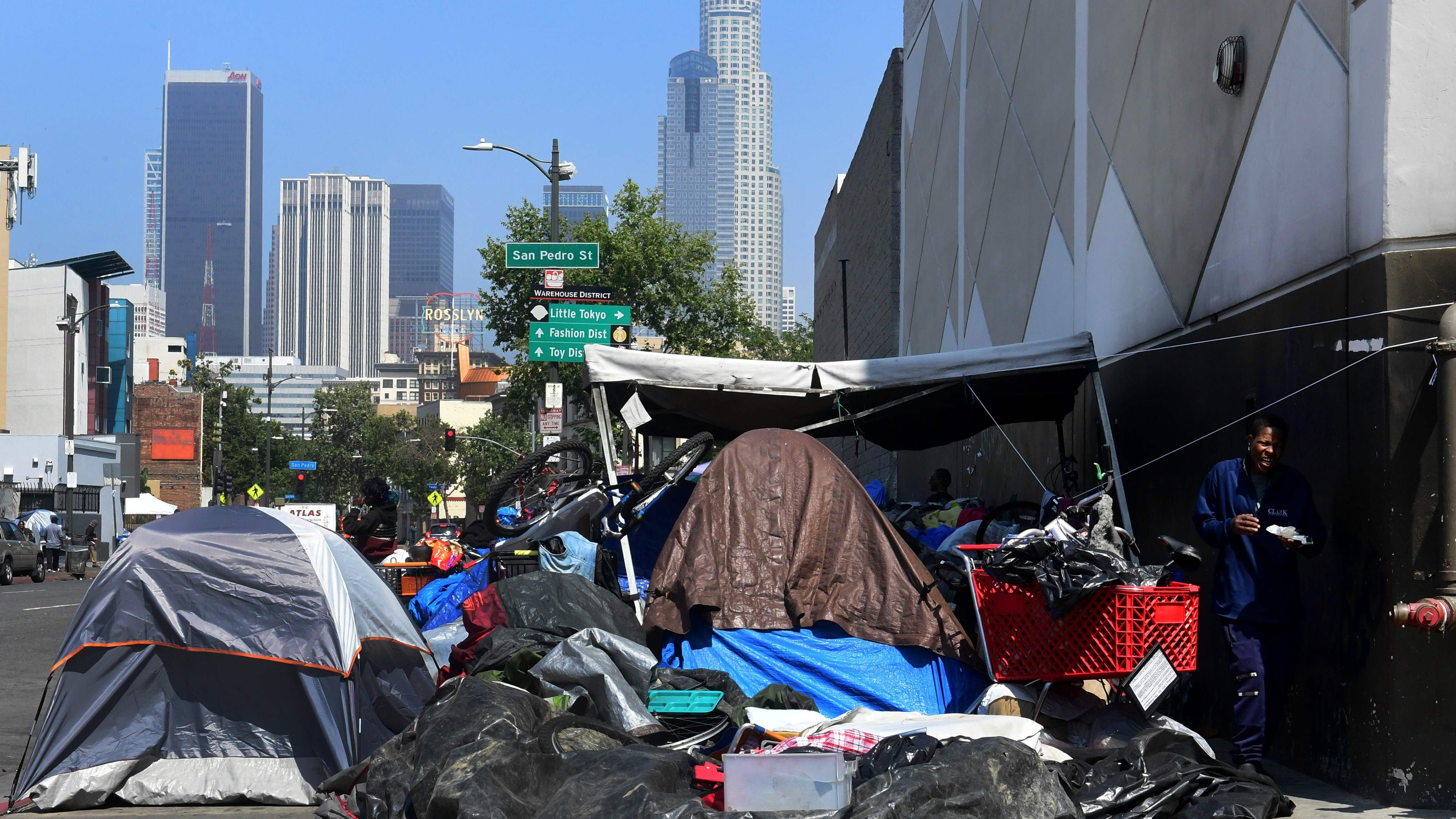 Los Angeles Homeless Housing Costs Run Higher Than Private Homes Los Angeles Skid Row Homeless People