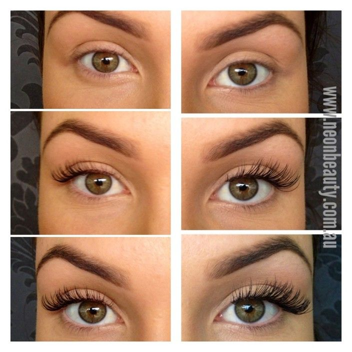 Professional Lash Extensions Different Thicknesses And Lengths