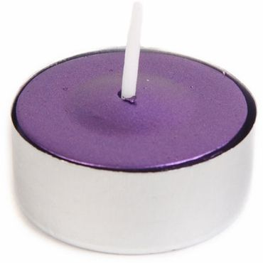 Ctz 043 Metallic Purple Tealight Candles 50pcs Pack Candle