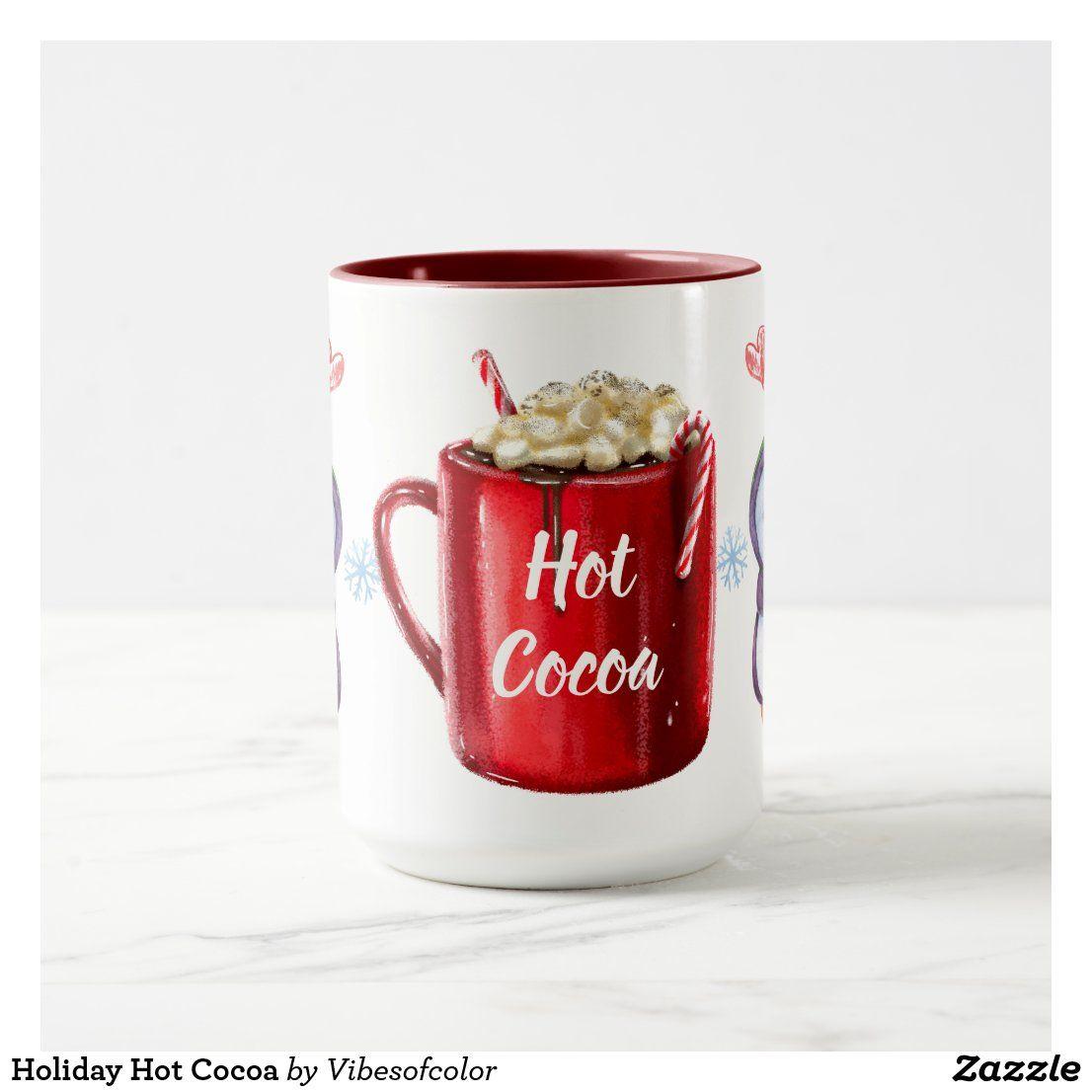 Holiday Hot Cocoa Mug Zazzle Com Hot Cocoa Mugs Cocoa
