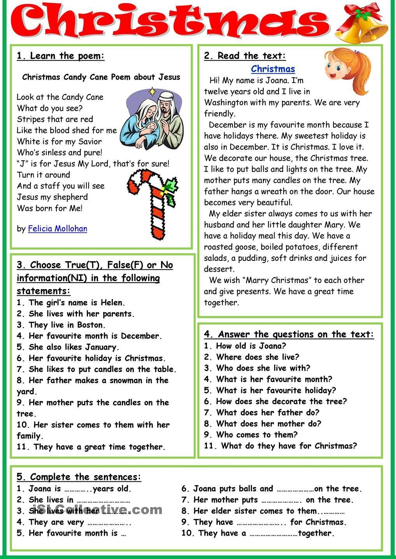 Christmas 2 Christmas Teaching Christmas Lesson Christmas Reading