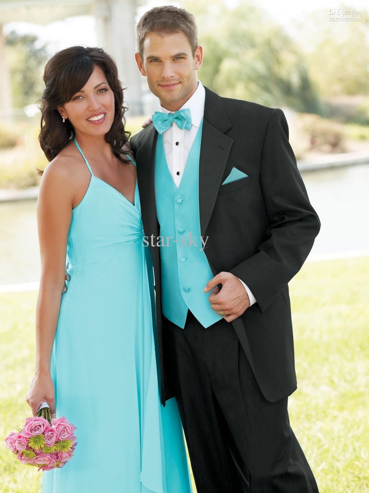 New popular Groom Tuxedos Wedding Suits Prom Clothing jacket+pants+ ...