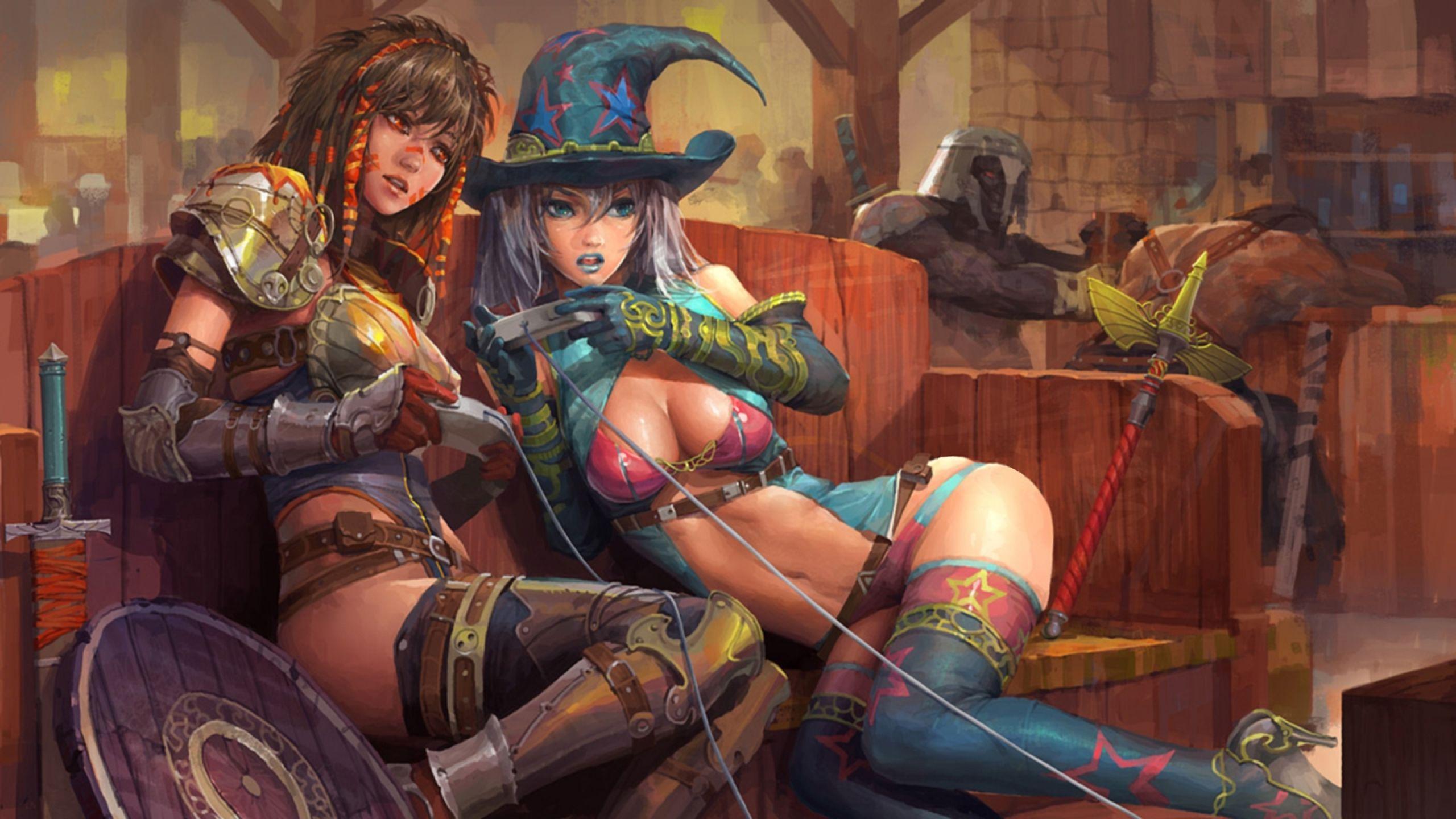 Hot girls play nintendo