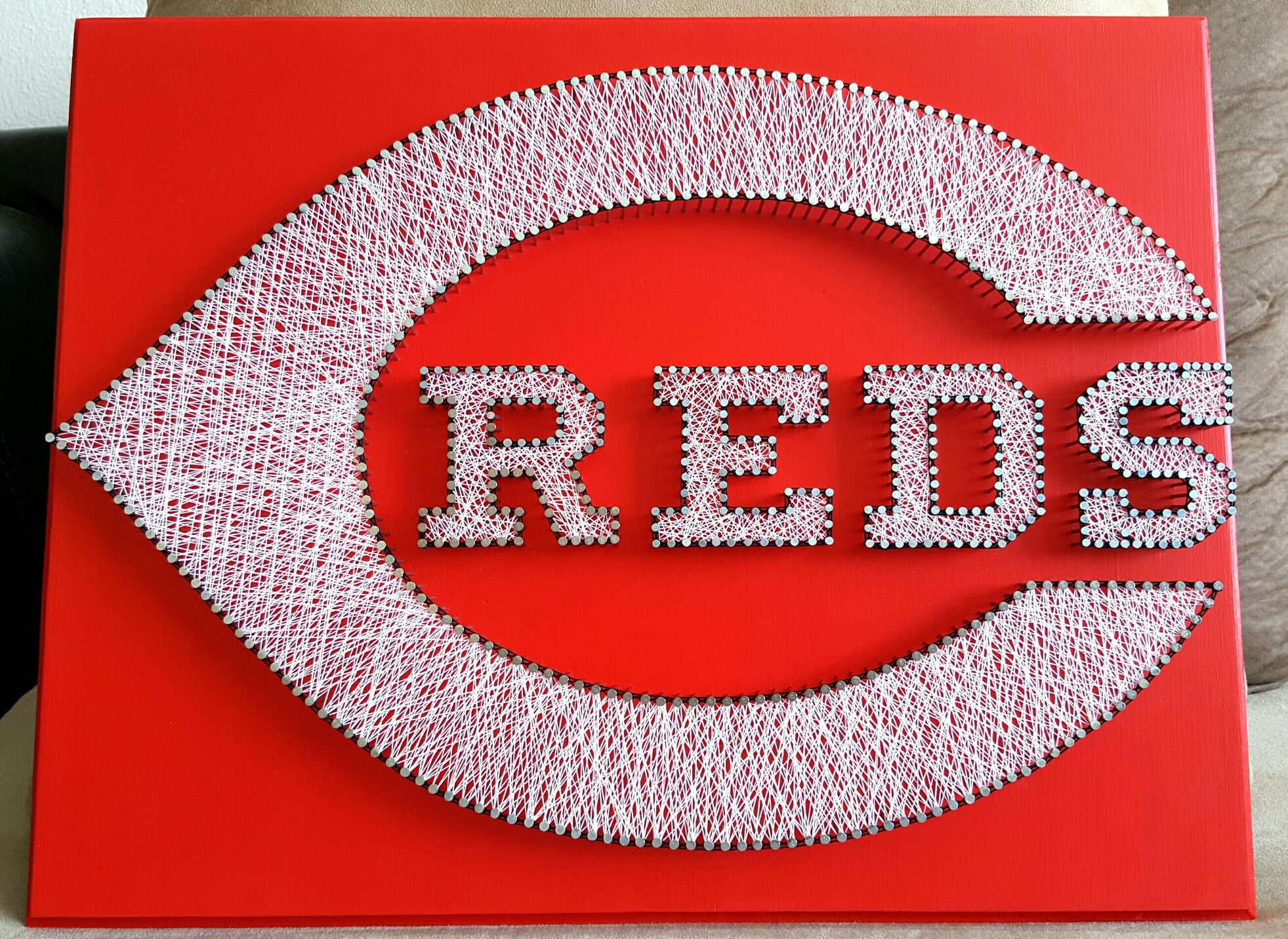 16 x 20 Cincinnati Reds string art