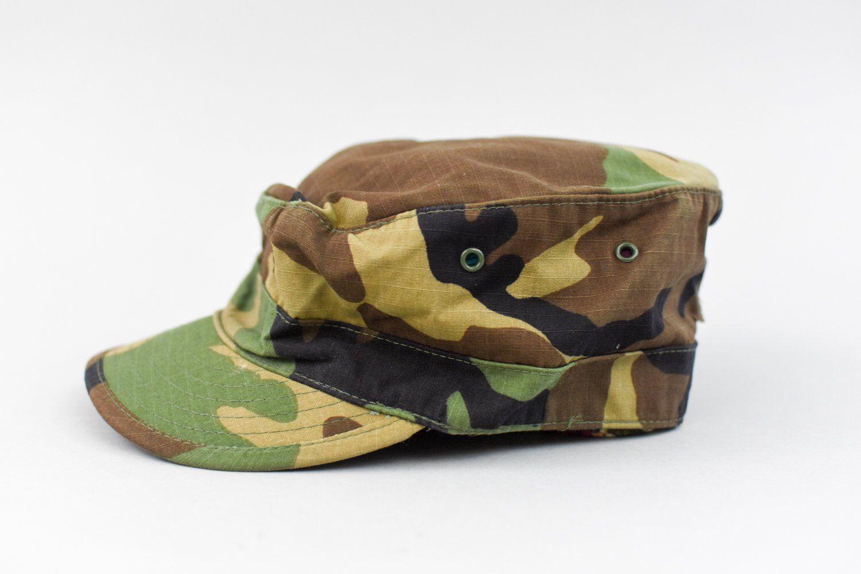 Camo Hat Vintage Us Army Woodland Hot Weather Camouflage Utility Bdu Patrol Cap Unisex Size 7 1 8 By Kleighvint Camo Hats Hats Vintage Crossbody Shoulder Bag