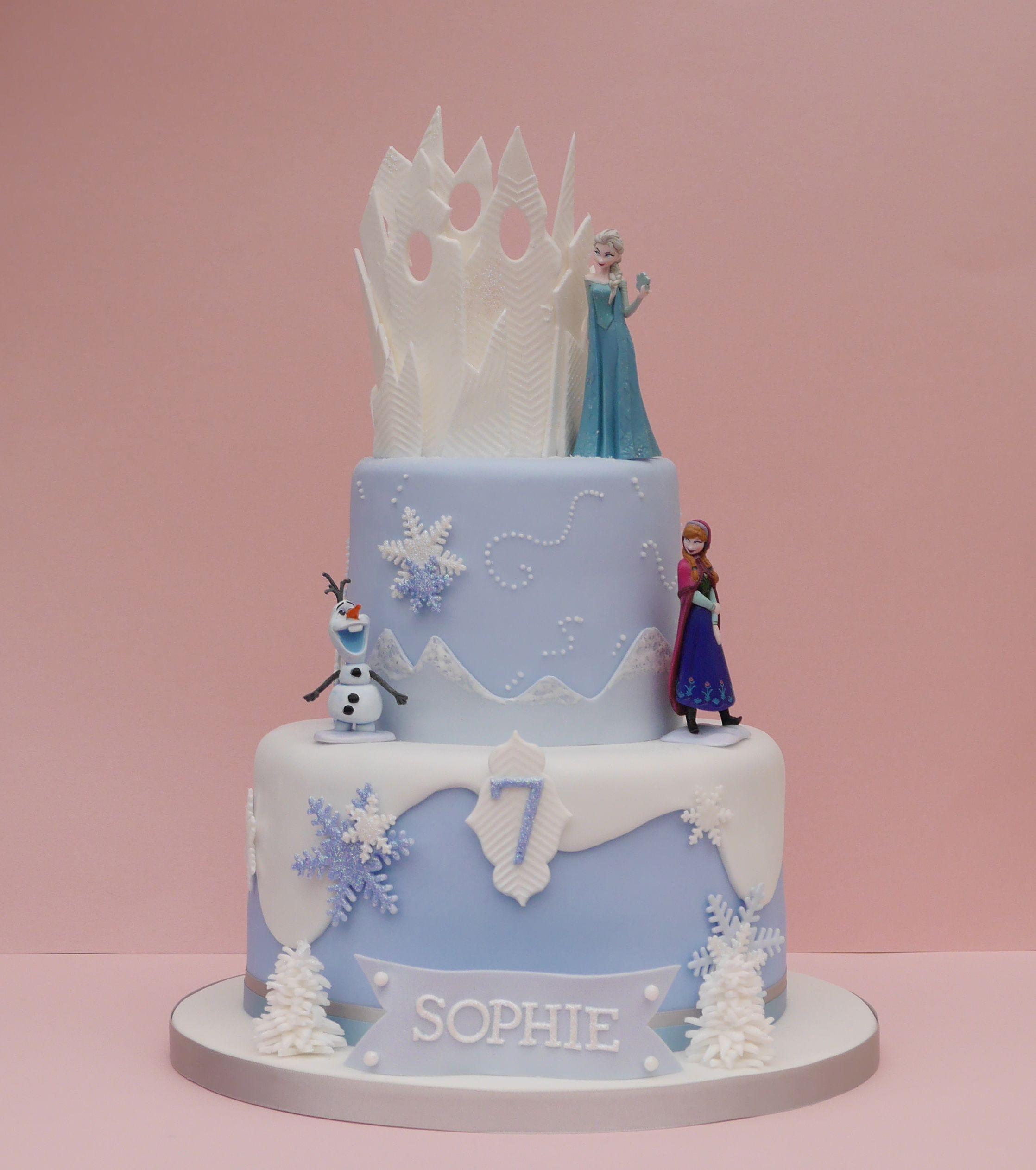 Disney Frozen themed birthday cake for Sophies 7th birthday www