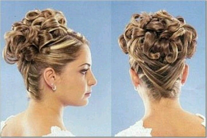 Curly Up Do With A Cross Cross Back...Would Want Front To
