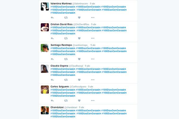 Los #100DíasConCorazón en Twitter - SIN EDITAR