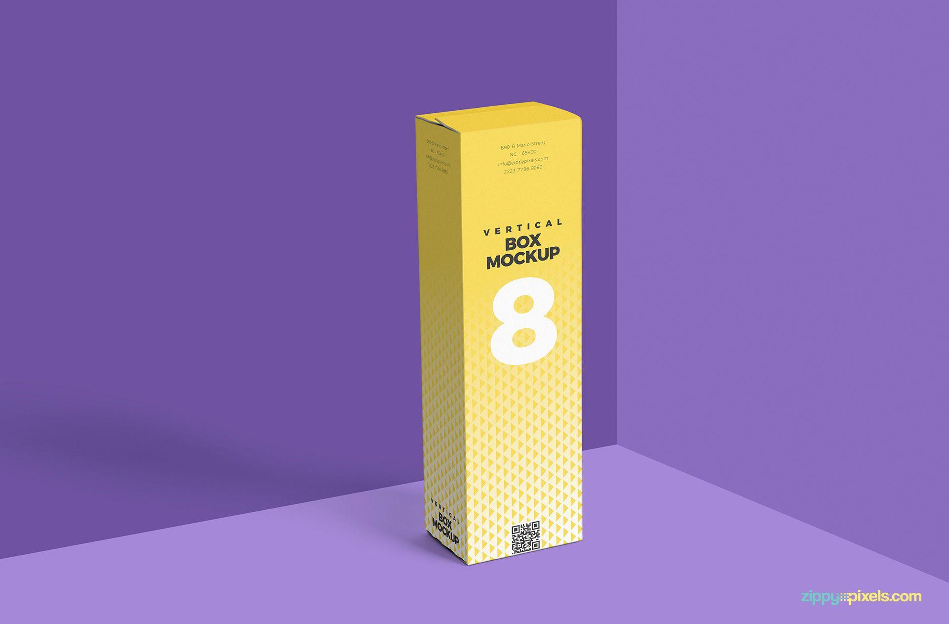 Download Free Vertical Box Mockup For Cardboard Zippypixels Box Mockup Packaging Mockup Free Packaging Mockup