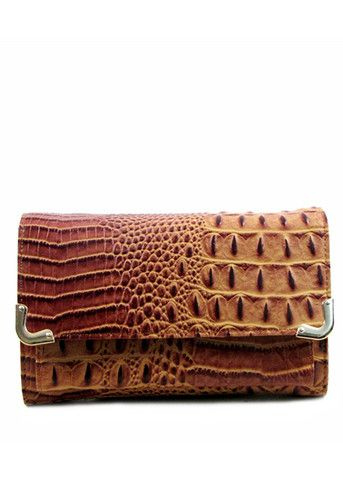 Stay Out Later Alligator Skin Clutch - Tan - $36.00 | Daily Chic Accessories | International Shipping