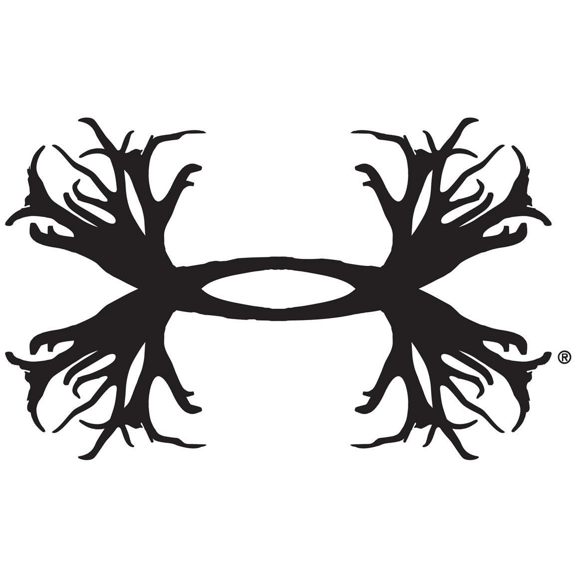 Under armour inch ua logo decal black silhouette