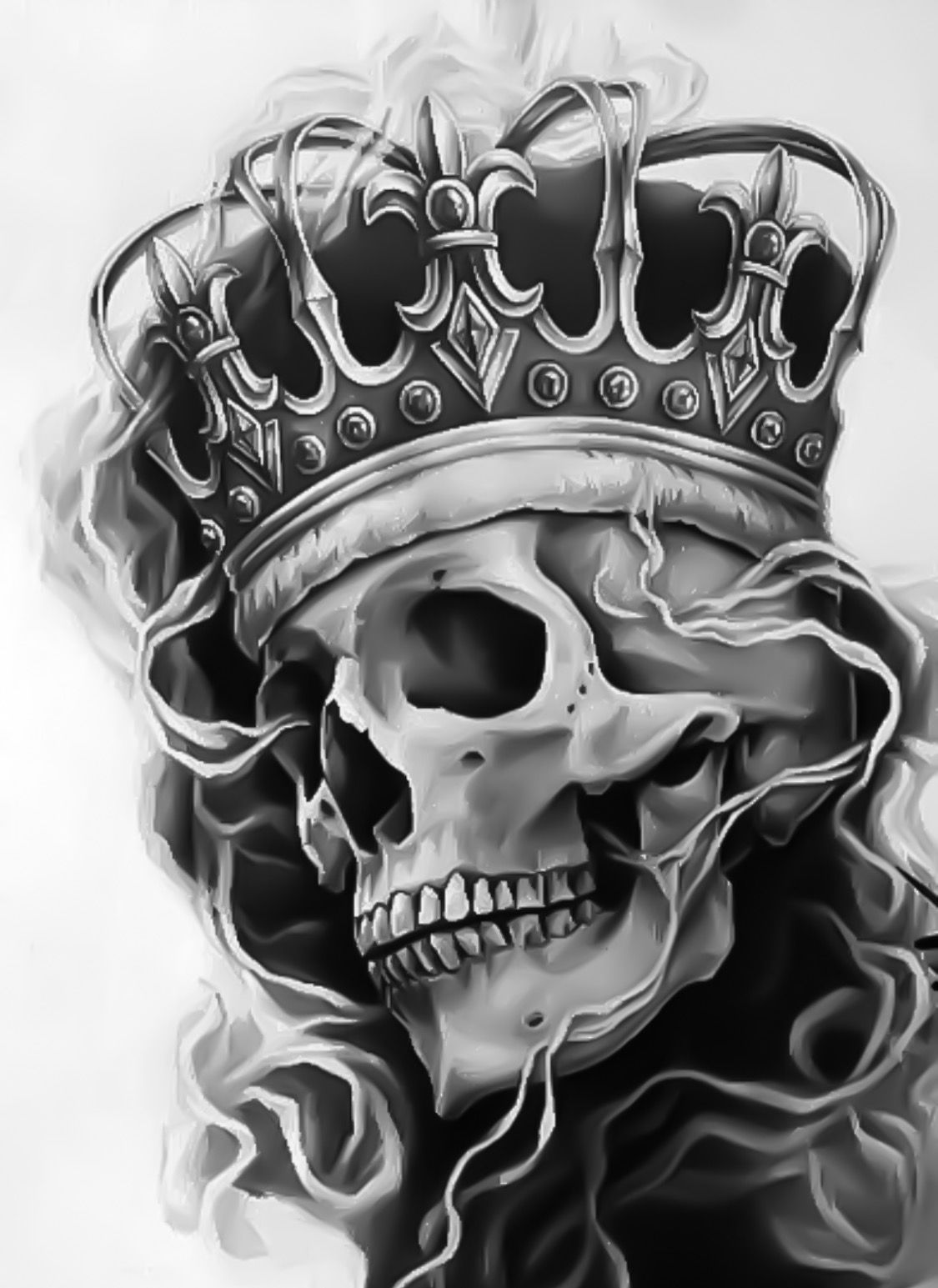 king skull tattoo tattoos pinterest totenk pfe totenkopf tattoos und tattoo ideen. Black Bedroom Furniture Sets. Home Design Ideas