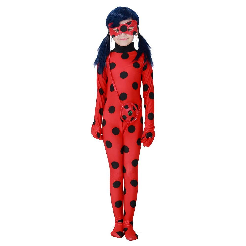 Outfits Tight Fancy Dress Kids Girl Miraculous Ladybug Cosplay Costume Jumpsuit