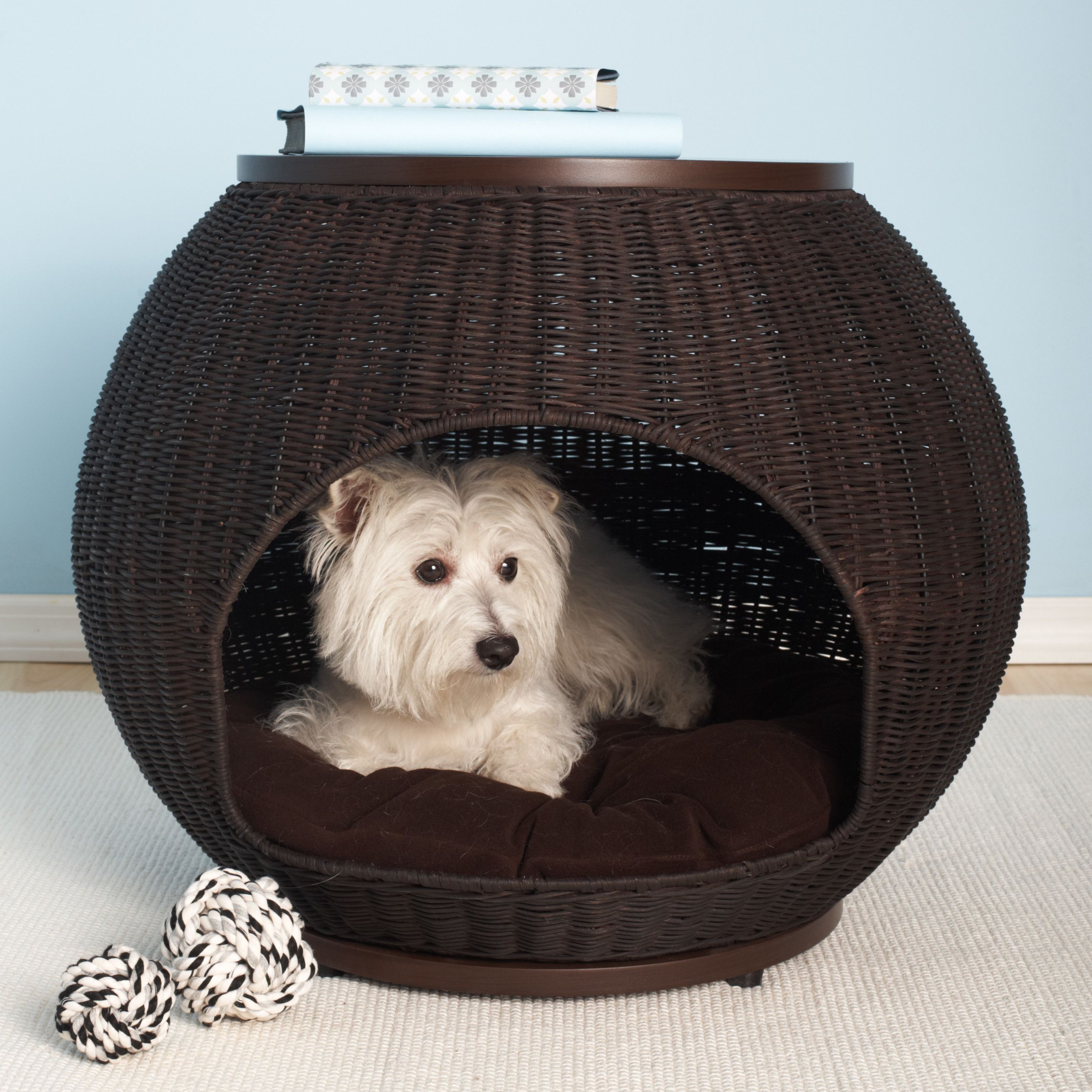 The Refined Canine The Igloo Deluxe End Table Dog Dome