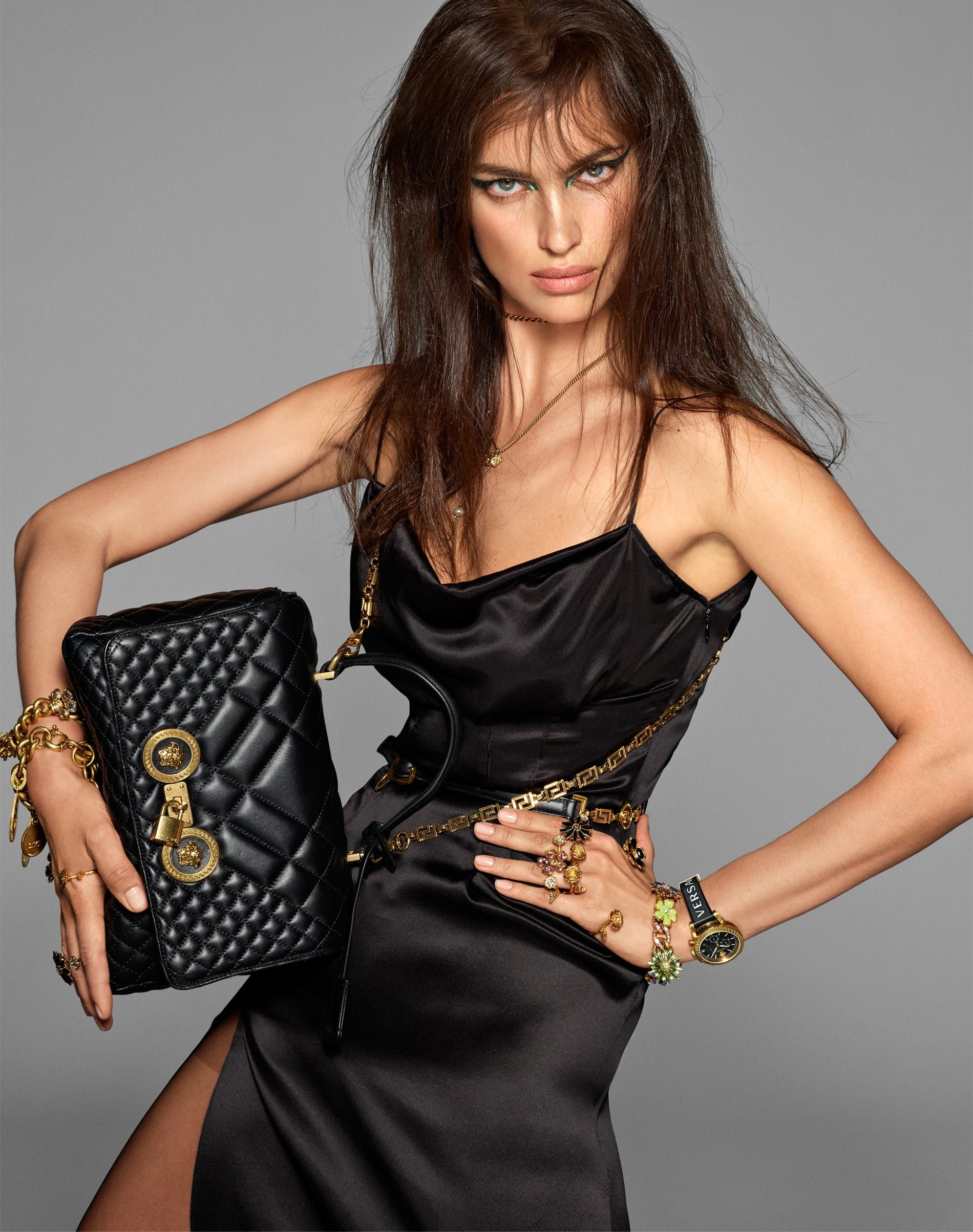 2cb174ba80 VERSACE Spring Summer 2019 Ready-To-Wear ad campaign featuring IRINA SHAYK  photographed by STEVEN MEISEL make-up PAT McGRATH hair GUIDO PALAU