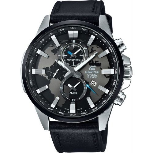 Buy Casio Edifice Efr 303l 1a Analog Black Dial Black Leather Men S