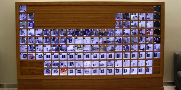 Real Life Periodic Table Shows Elements Full Use Periodic Table Real Life Mineral Collection Display