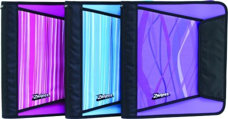 zwipes 1 5 inch binders in pretty fashion colours back to school
