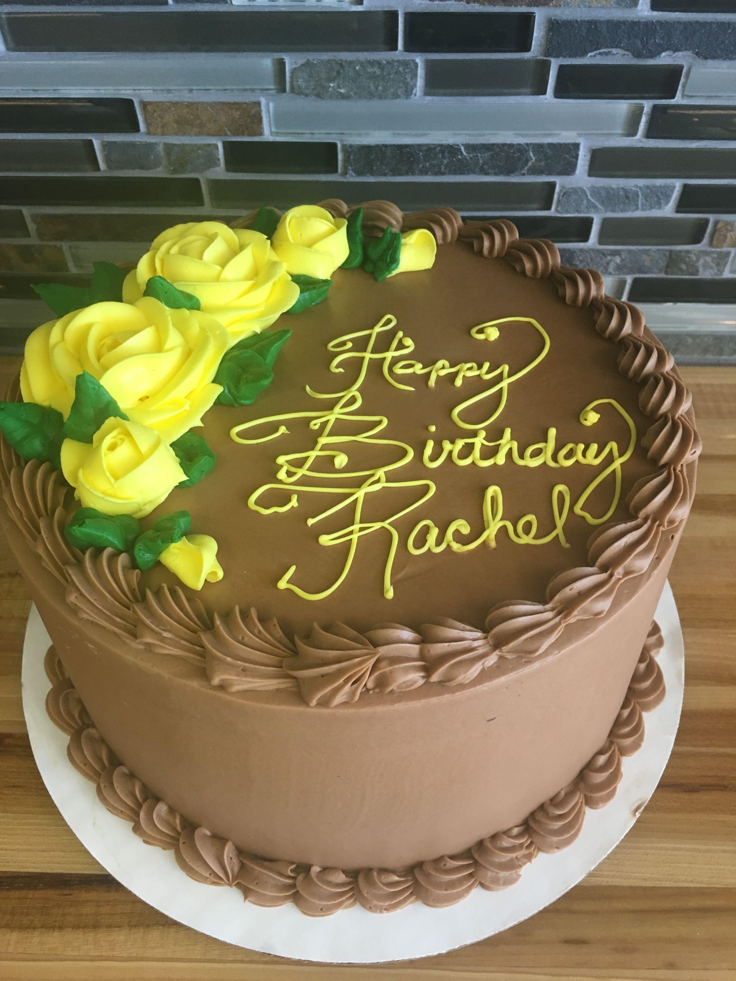 Chocolate Birthday Cake Yellow Roses Birthday Cake Chocolate