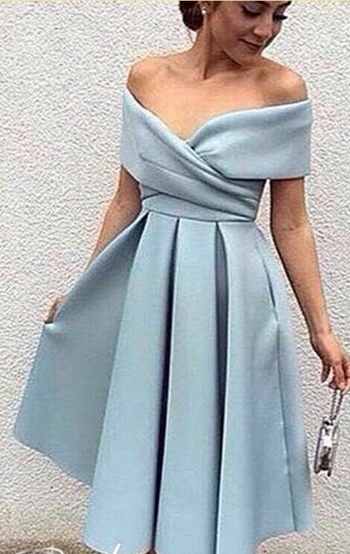 2328f71cf314 Evening Dress,Tea-Length Evening Dress,Off-the-Shoulder Evening Dresses,Elegant  Party Dress
